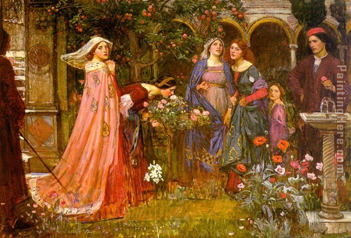 The Enchanted Garden painting - John William Waterhouse The Enchanted Garden art painting