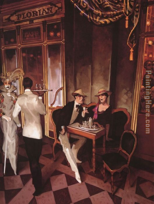 Juarez Machado Cafe Florian Art Painting