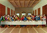 the picture of the last supper by Leonardo da Vinci