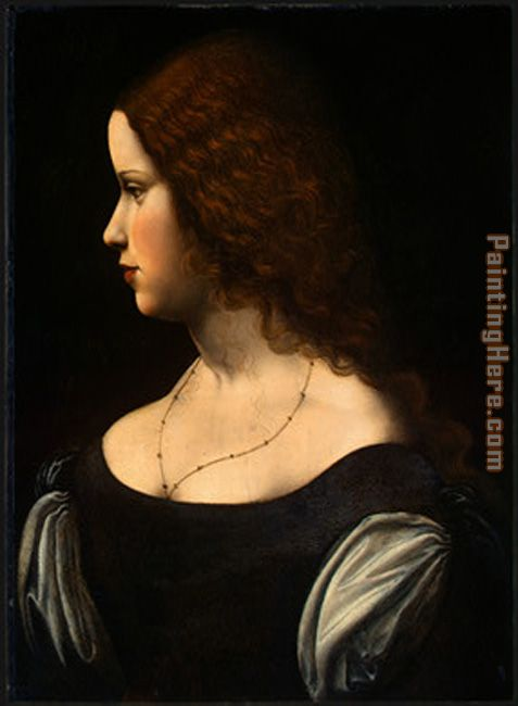 Portrait Of A Young Lady painting - Leonardo da Vinci Portrait Of A Young Lady art painting