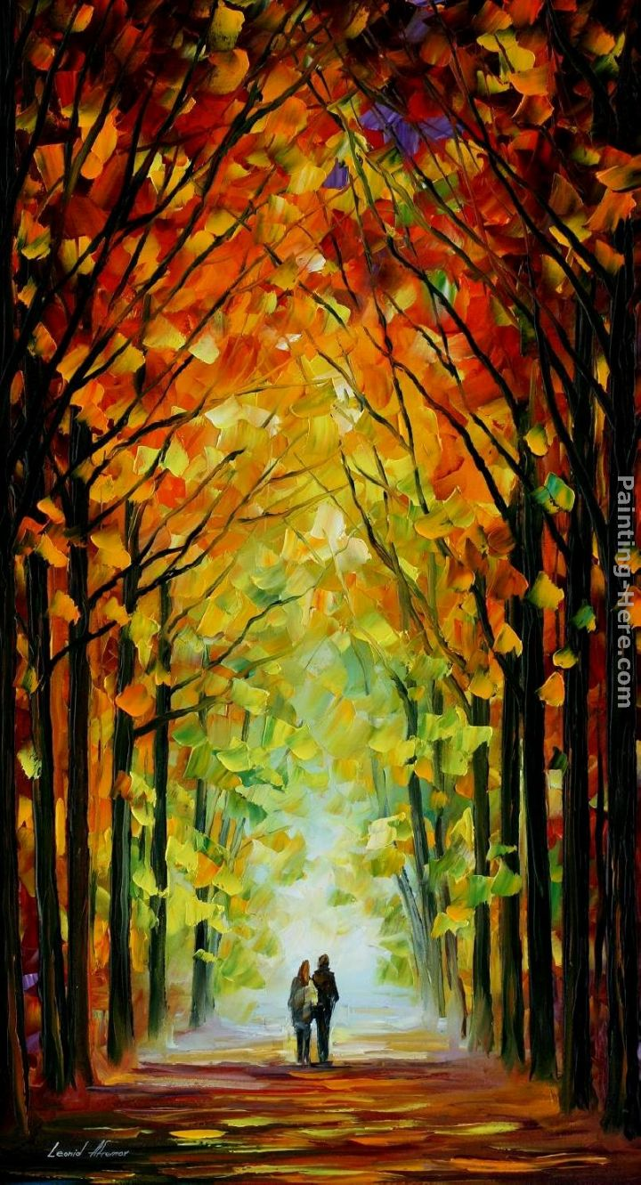 ALTAR OF TREES painting - Leonid Afremov ALTAR OF TREES art painting