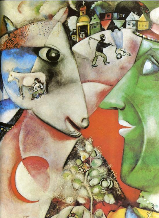 I and the Village painting - Marc Chagall I and the Village art painting