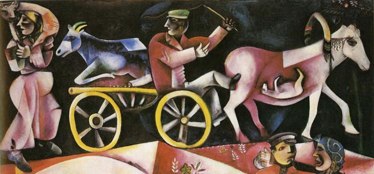 The Cattle Dealer painting - Marc Chagall The Cattle Dealer art painting