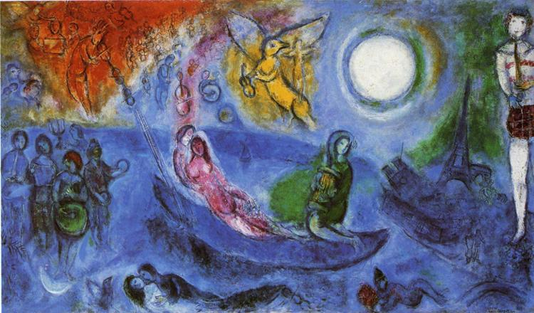 The Concert painting - Marc Chagall The Concert art painting