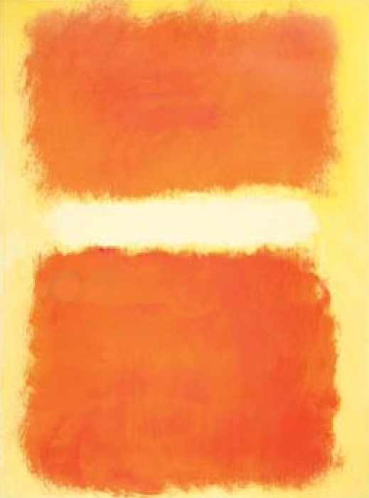 Mark Rothko Acrylic on Paper 1968 Art Painting