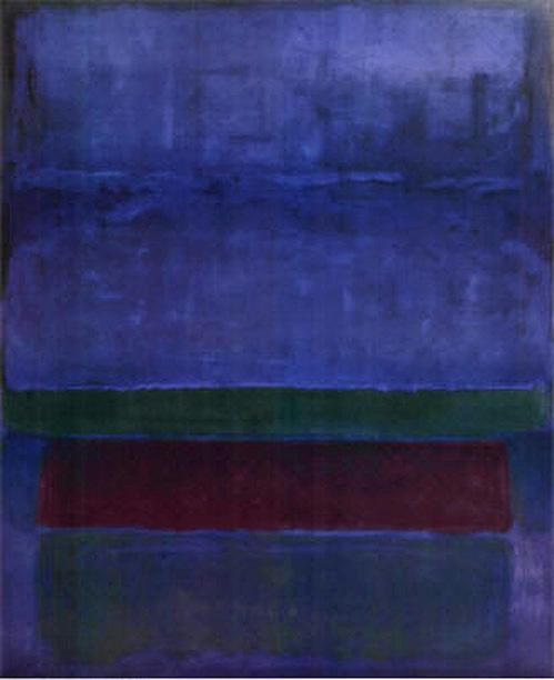Blue Green and Brown painting - Mark Rothko Blue Green and Brown art painting