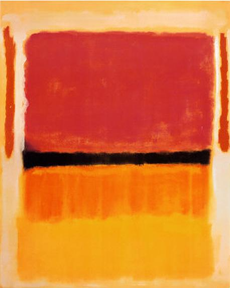Mark Rothko Untitled Violet Black Orange Yellow on White and Red 1949 Art Painting