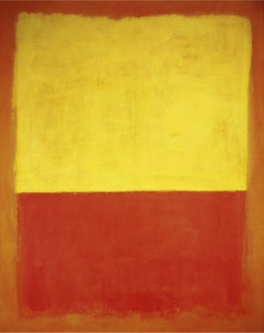 Untitled no12 Red and Yellow painting - Mark Rothko Untitled no12 Red and Yellow art painting