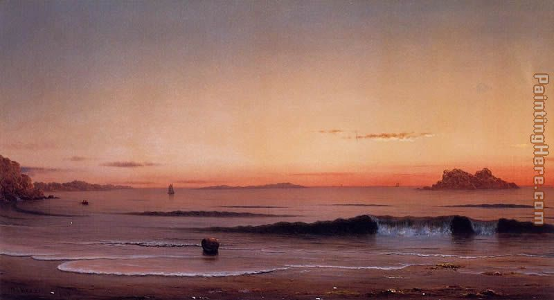Twilight, Singing Beach painting - Martin Johnson Heade Twilight, Singing Beach art painting