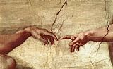 Creation of Adam hand by Michelangelo Buonarroti