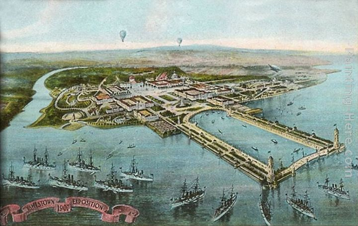 Illustration of Jamestown Exposition, Virginia painting - Norman Parkinson Illustration of Jamestown Exposition, Virginia art painting