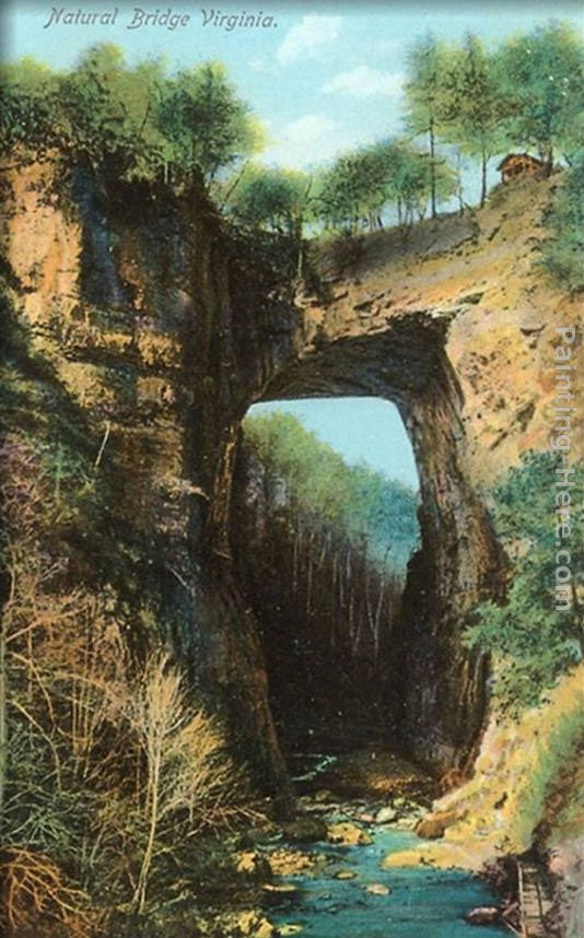 Natural Bridge, Virginia painting - Norman Parkinson Natural Bridge, Virginia art painting