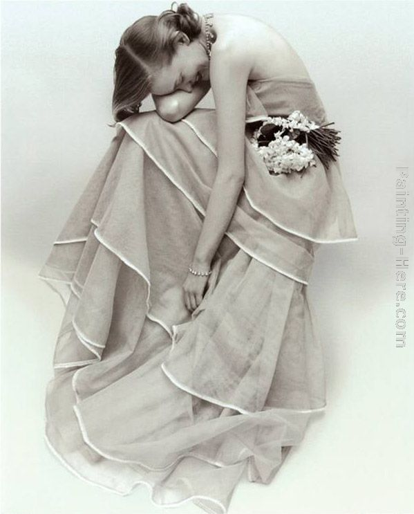 Norman Parkinson Tiered Evening Dress, March Art Painting