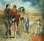 Family at Saltimbanquesc by Pablo Picasso