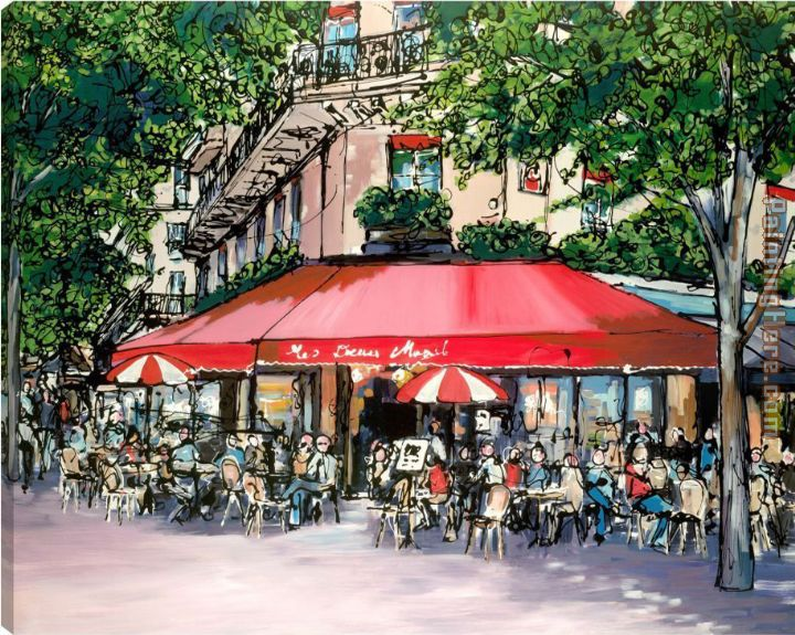 Cafe Du Coin painting - Paul Kenton Cafe Du Coin art painting