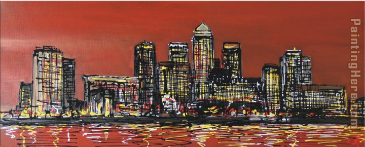 Paul Kenton Canary Wharf Crown Art Painting