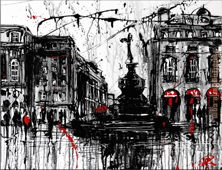 London Town painting - Paul Kenton London Town art painting