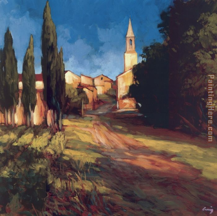 Pathway to the Villa painting - Philip Craig Pathway to the Villa art painting