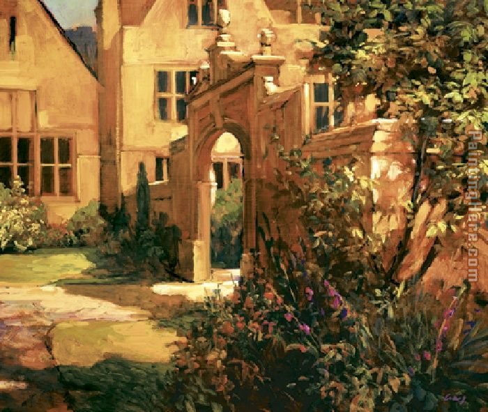 Philip Craig Sunlit Courtyard Art Painting