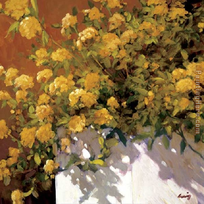 Philip Craig Yellow Geraniums Art Painting