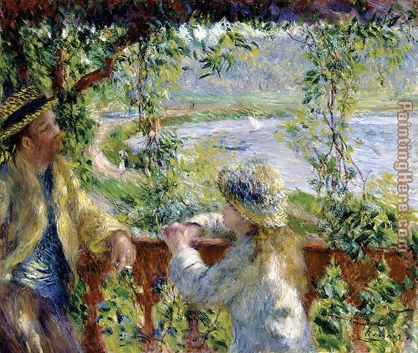 By the Water painting - Pierre Auguste Renoir By the Water art painting