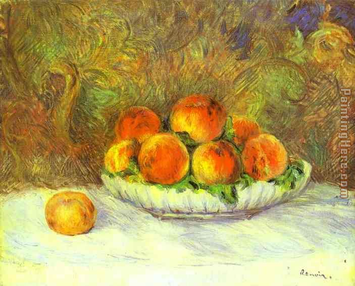 Still Life with Peaches painting - Pierre Auguste Renoir Still Life with Peaches art painting