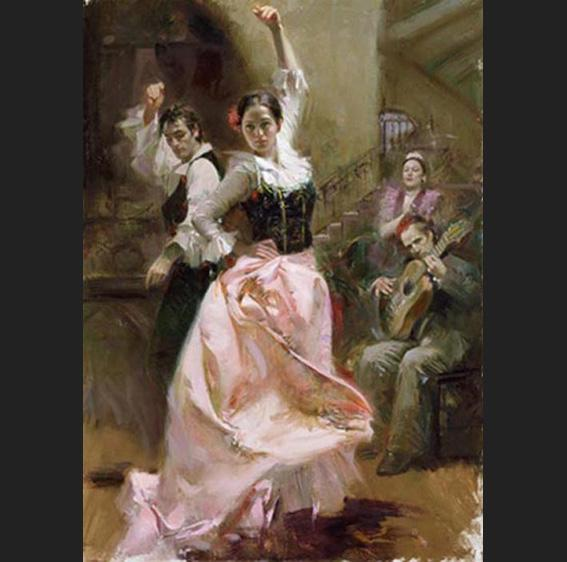 DANCING IN BARCELONA painting - Pino DANCING IN BARCELONA art painting