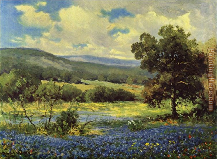 Fields of Blue painting - Robert Wood Fields of Blue art painting