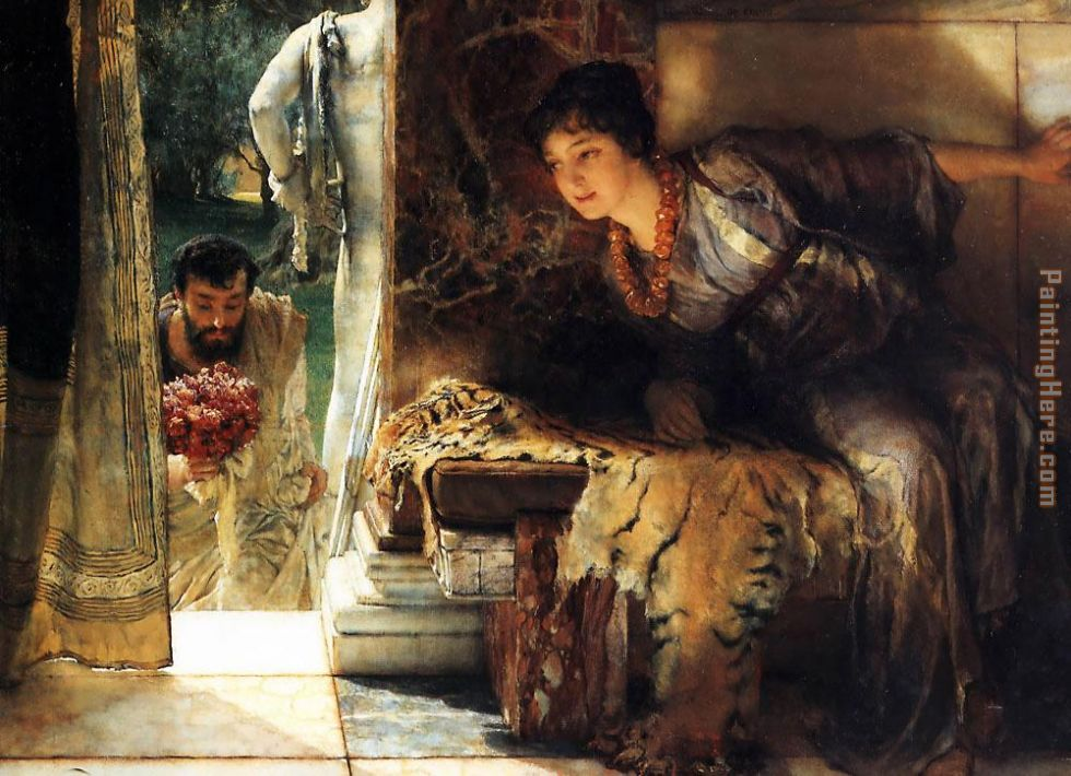 Welcome Footsteps painting - Sir Lawrence Alma-Tadema Welcome Footsteps art painting