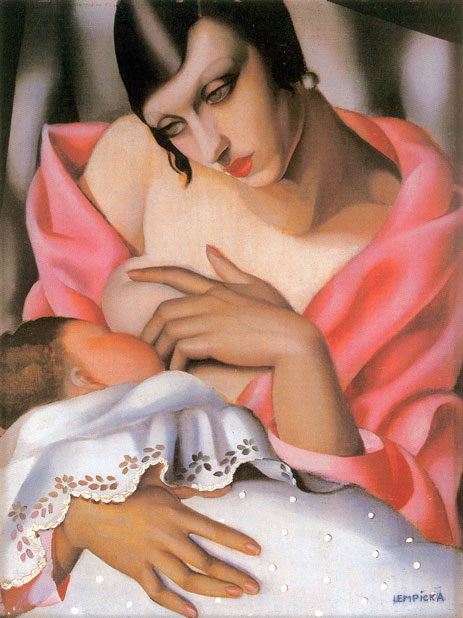 Tamara de Lempicka Breast feeding Art Painting
