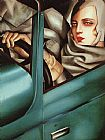 Self Portrait in Green Bugatti by Tamara de Lempicka
