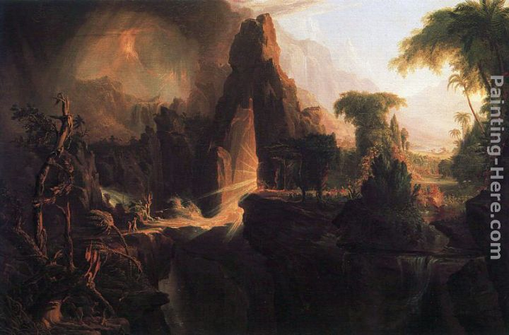 Thomas Cole Expulsion from the Garden of Eden Art Painting
