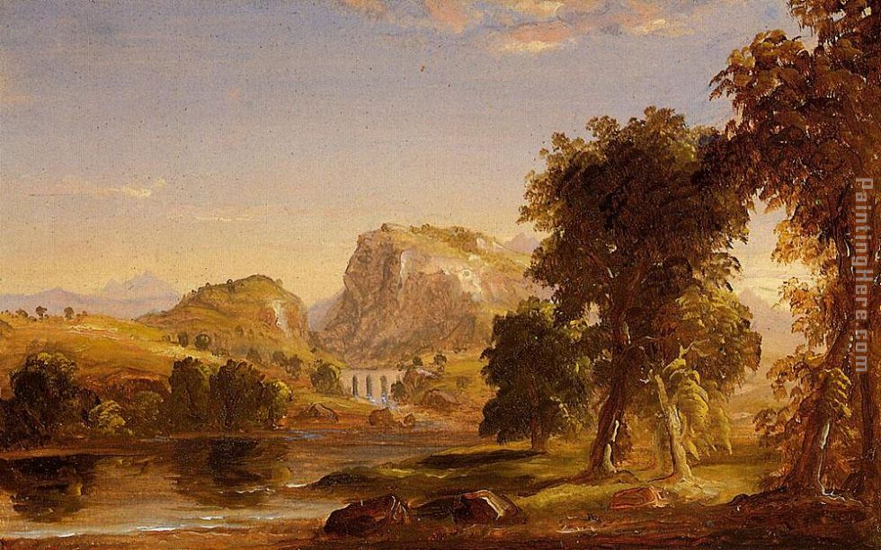 Sketch for Dream of Arcadia painting - Thomas Cole Sketch for Dream of Arcadia art painting