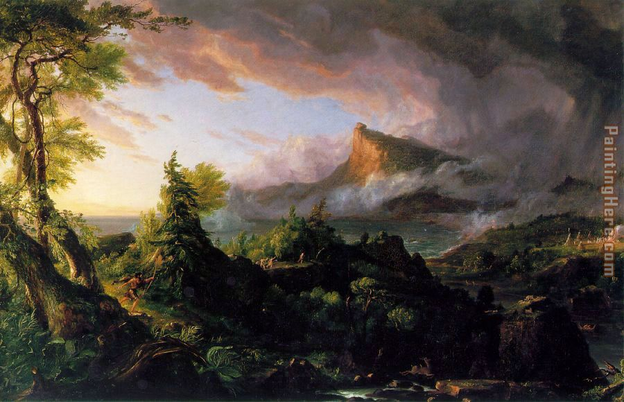 Thomas Cole The Course of Empire The Savage State Art Painting