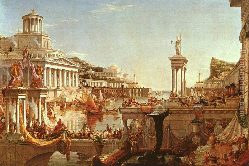 The Course of the Empire The Consummation painting - Thomas Cole The Course of the Empire The Consummation art painting