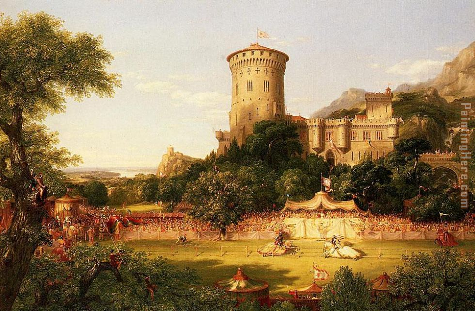 Thomas Cole The Past Art Painting