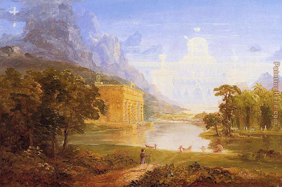 Thomas Cole The Pilgrim of the World on His Journey Art Painting