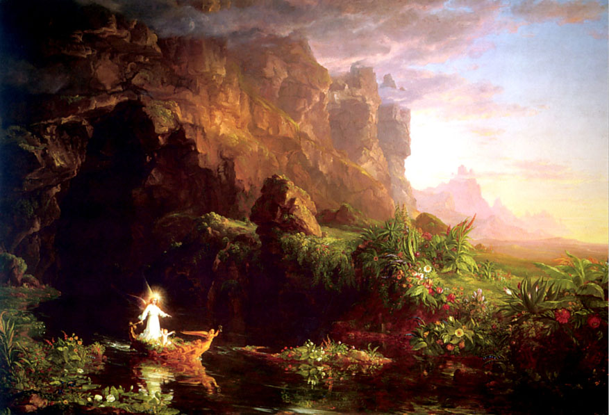 Thomas Cole The Voyage of Life Childhood Art Painting