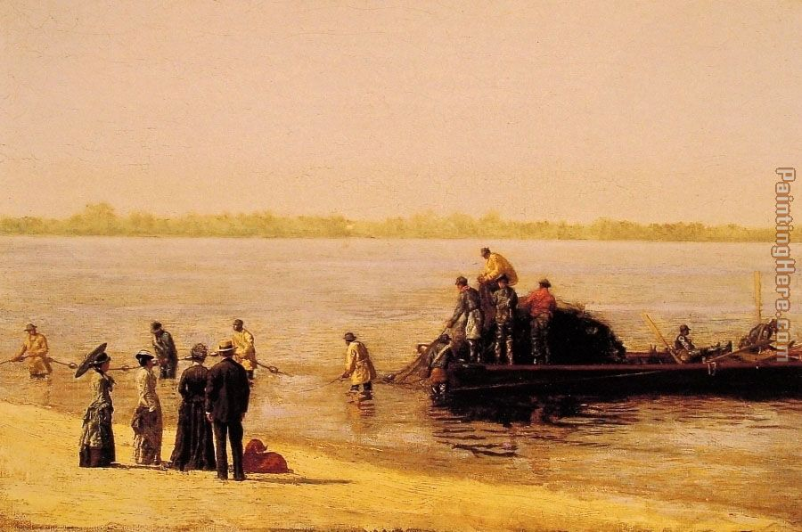 Shad Fishing at Gloucester on the Delaware River painting - Thomas Eakins Shad Fishing at Gloucester on the Delaware River art painting