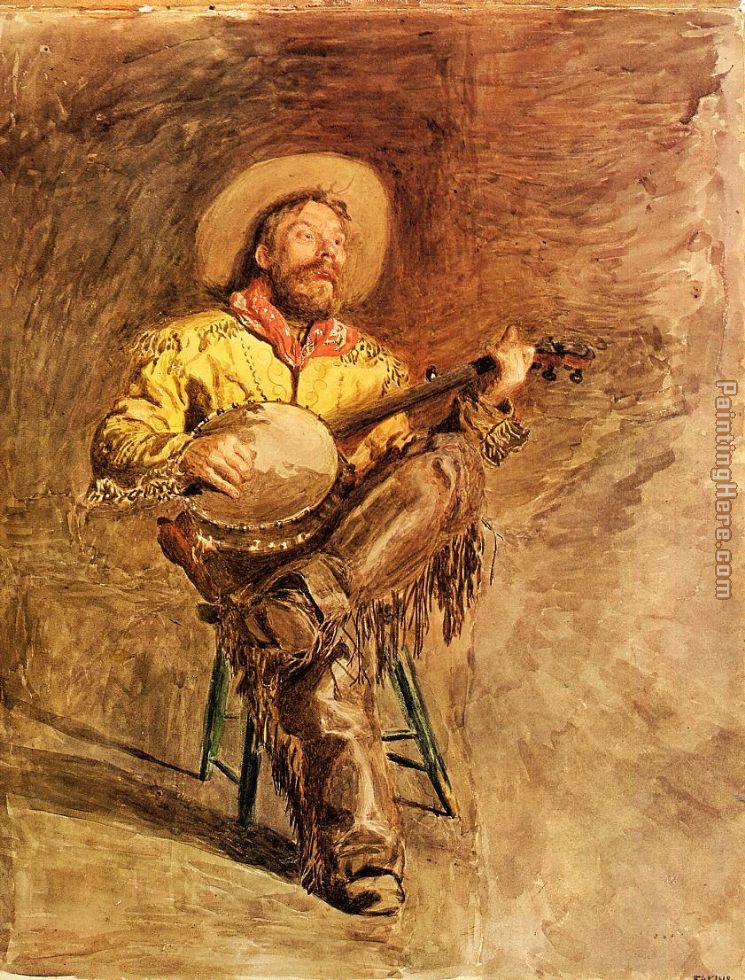 Thomas Eakins cowboy singing Art Painting