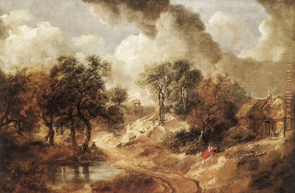 Landscape in Suffolk painting - Thomas Gainsborough Landscape in Suffolk art painting