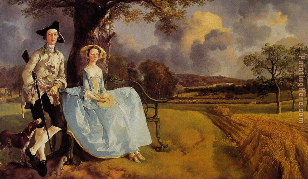 Mr and Mrs Andrews painting - Thomas Gainsborough Mr and Mrs Andrews art painting