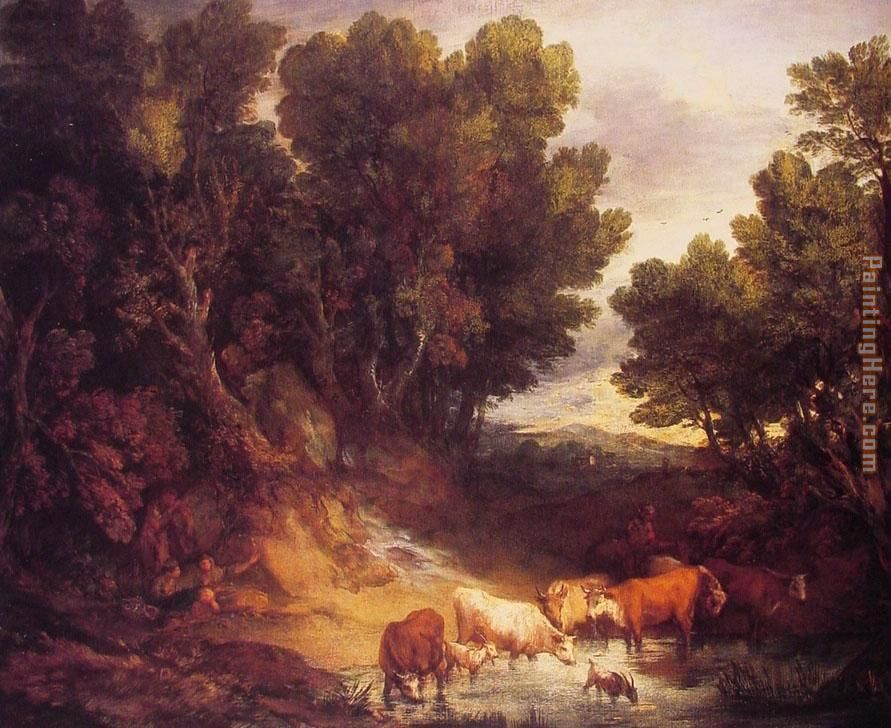 Thomas Gainsborough The Watering Place Art Painting