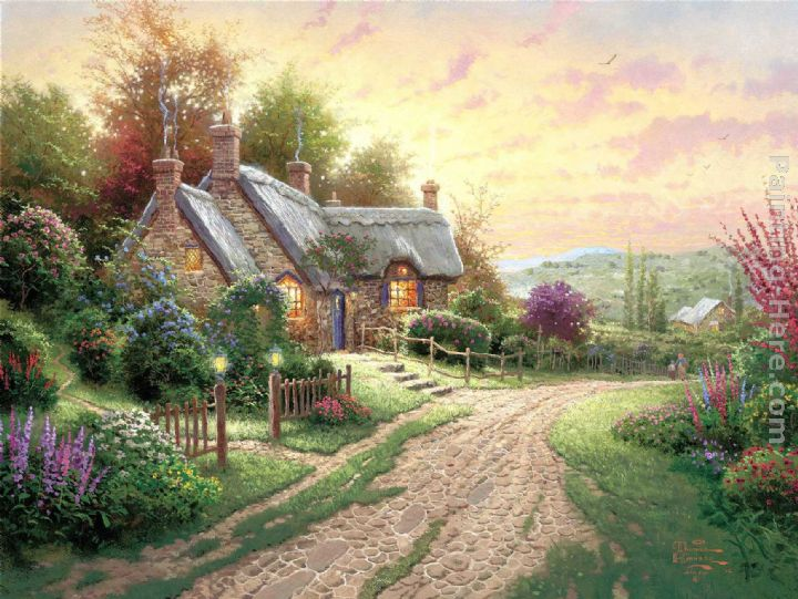 A Peaceful Time painting - Thomas Kinkade A Peaceful Time art painting