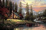 A Peaceful Retreat by Thomas Kinkade
