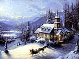 Home For Christmas by Thomas Kinkade
