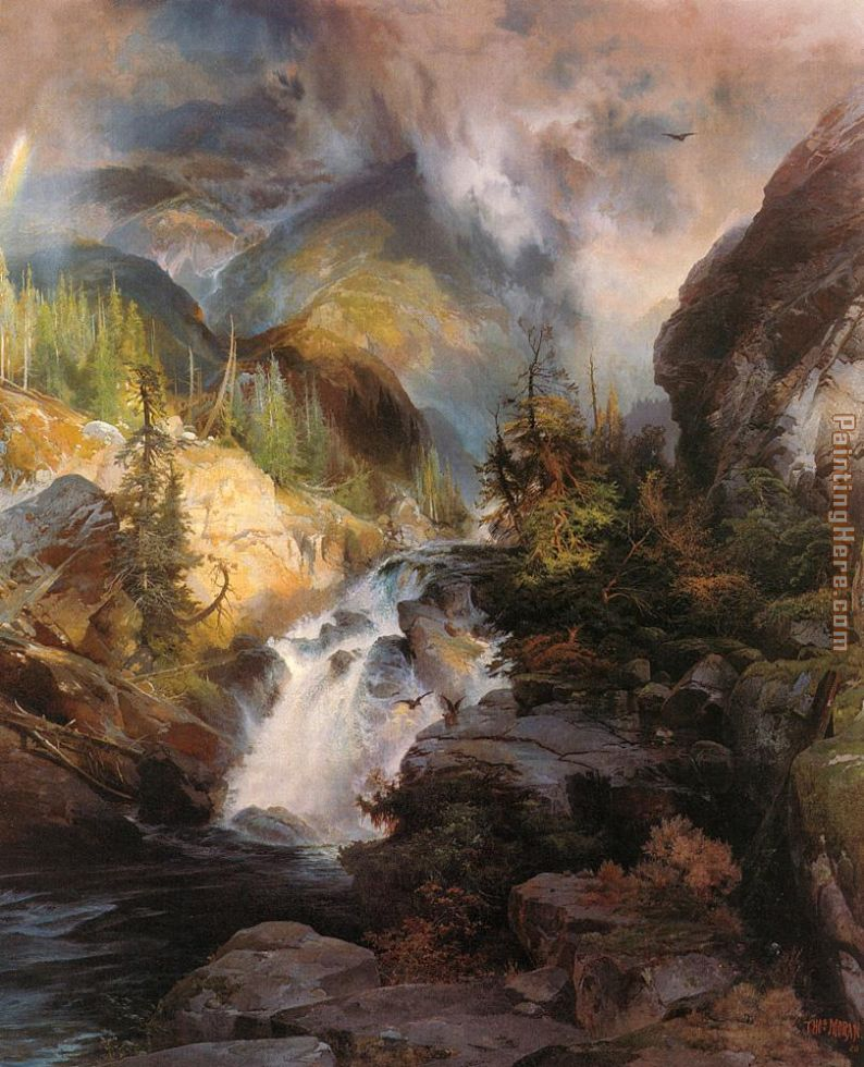 Thomas Moran Children of the Mountain Art Painting