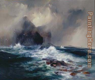 Thomas Moran Fingal's Cave, Island of Staffa, Scotland Art Painting
