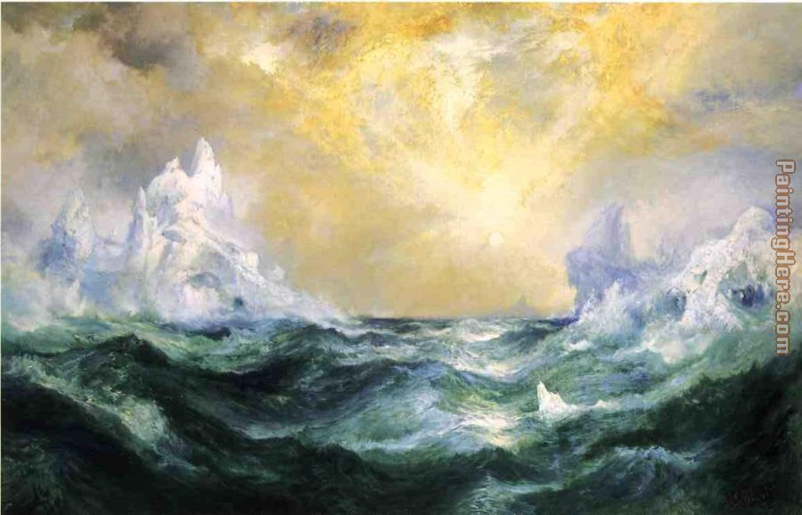 Icebergs in Mid-Atlantic painting - Thomas Moran Icebergs in Mid-Atlantic art painting