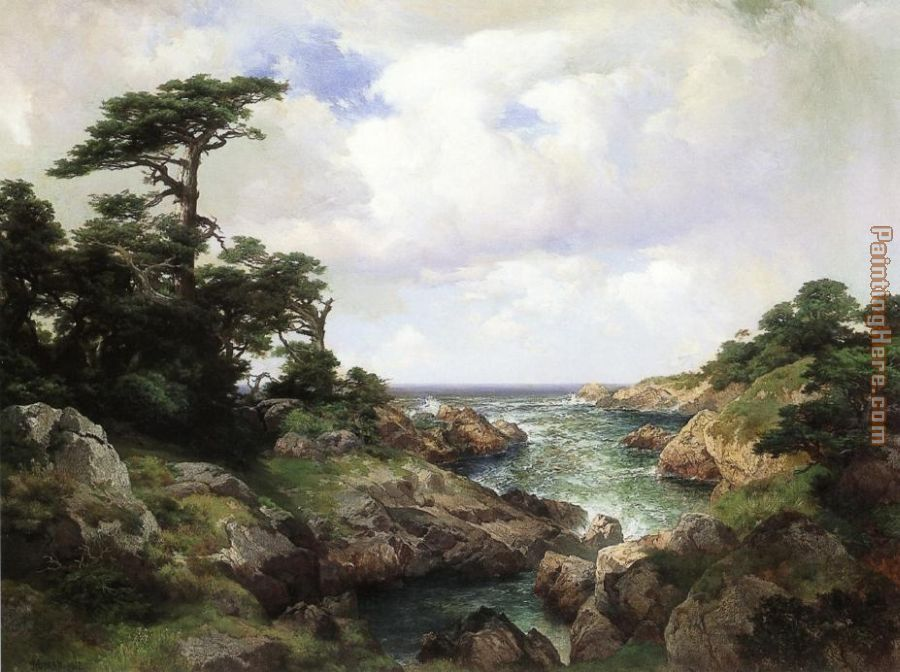 Thomas Moran Monterey Coast I Art Painting